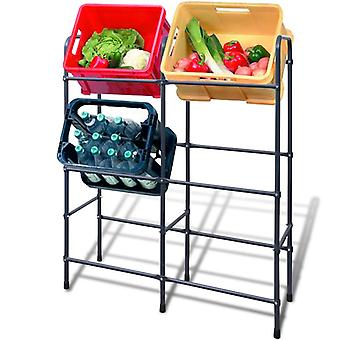 Steel shelf for 6 cartons/boxes