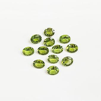 3 * 4 Mm Oval Cut Natural Peridot Loose Gemstones
