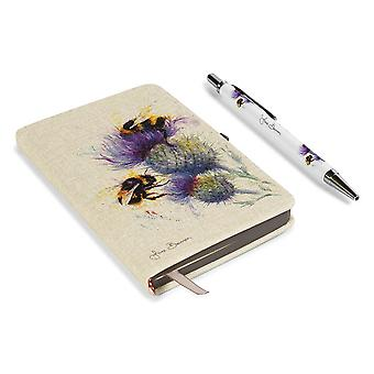 Jane Bannon Bees on Thistle A6 Notebook Set