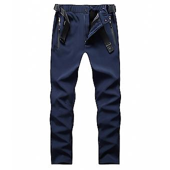 Mens Fleece Lined Warm Outdoor Pants For Hiking