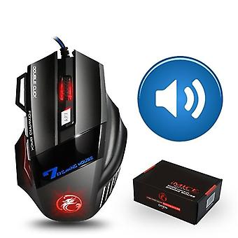 Gamer 7 Button 5500dpi Wired Ergonomic Mouse Led Mouse