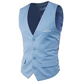 Vest Men, Spring, Slim Fit Sleeveless, Waistcoat Mens Formal Business Wedding