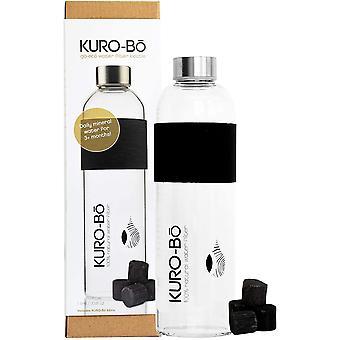 KURO-Bō Glass Water Filter Bottle (1L) + Koins Included