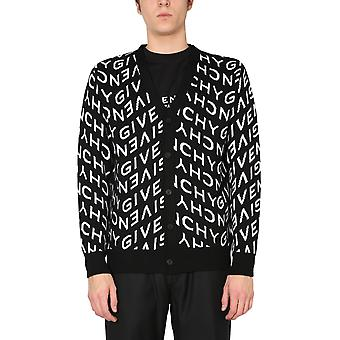 Givenchy Bm90f14y7g004 Men's Black Wool Cardigan