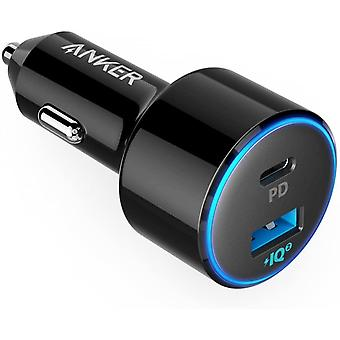 USB C Car Charger, 49.5W PowerDrive Speed+ 2 Car Adapter with 1 30W PD Port