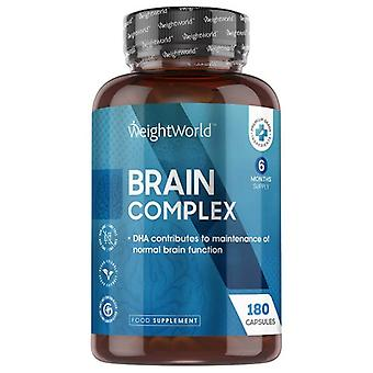 Brain Complex - Mental Performance Supplement With Brain Vitamins - 180 Capsules