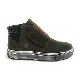 Schoenen Dames Us Polo Sneakers High Mod. Vessy Suede Leger Groen D19up03