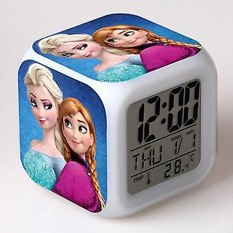 Herätyskello digitaalinen näyttö, söpö sarjakuva, lasten johtamat elektroniset gadgetit, muovi