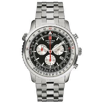 Sveitsisk alpinmilitær 7078.9137 kronograf menns klokke 45 mm