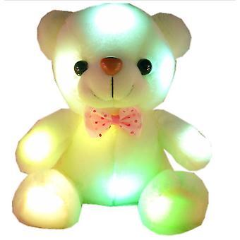 22cm hoge kwaliteit lichtgevende beer flash Teddy pluche creatieve pop
