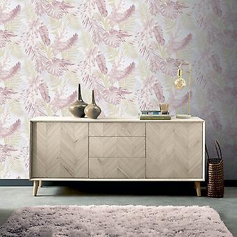 Artistick Blød Tropisk Selvklæbende Tapet Blush / Gold Arthouse 300212 6m x 0.53m