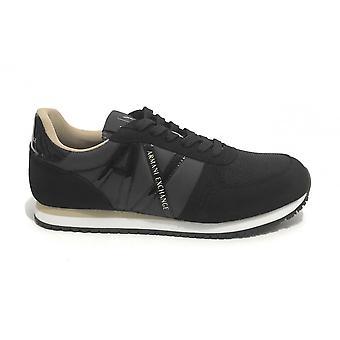 Shoes Women's Armani Exchange Sneaker Nylon/ Ecosuede Black Ds21ax01 Xdx031