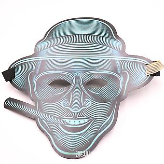 Lichtgevende Led Mask Panel Voice-activated Mask Halloween Hip-hop