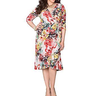 Kiyonna   Flirty Flounce Wrap Dress