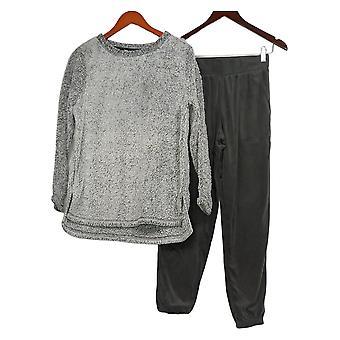 Carole Hochman Zestaw Shaggy Plush Sweter i Lounge Pant Szary A382018