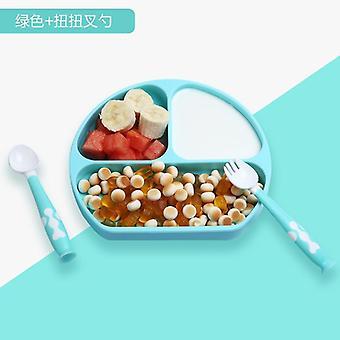 Prato de alimentação de silicone bebê, pratos de gel