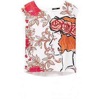 Desigual Floral Design T-Shirt Susurro