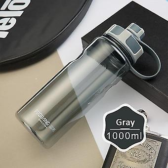 Vannflaske med bærering bred lekkasjesikker drikke tut sport flaske camping fitness utendørs 1000ml