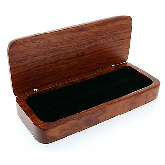 GTP Unisex Rose Bubinga Wood Finish Double Pen Gift Box - Perfect Present Solid Gift Wooden Pen Case/Box IMP325RB