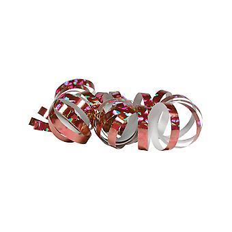 2 Roze holografische spoelrollen 4 m