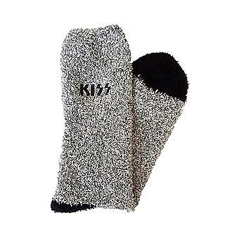 Men's KISS Logo Grey Fleece Socks
