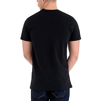 ニューエラ メンズ ニューヨーク ニックス チーム ロゴ クルー ネック T シャツ トップ ティー - ブラック