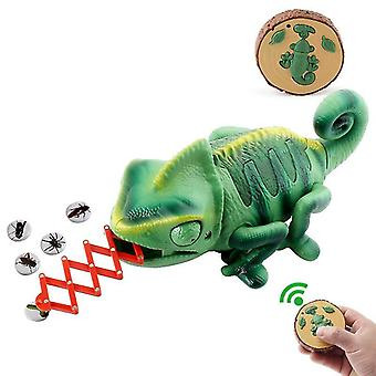 Remote Control Chameleon, Led Lights, Meal Catching Action Tongue