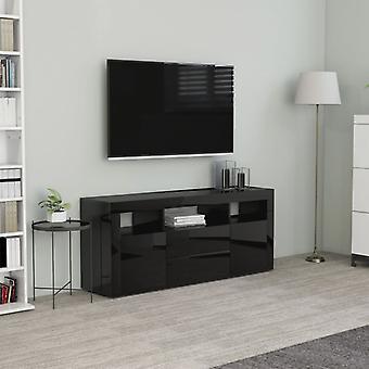 vidaXL armoire TV brillant noir 120 x 30 x 50 cm panneau de particules