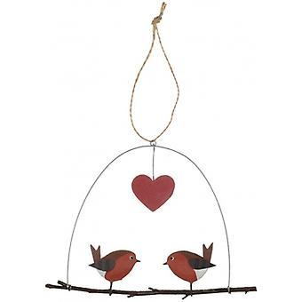 Robins in Love Christmas Hanger