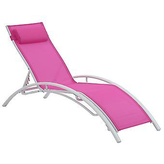Chaise longue de jardin en aluminium Beauty PHOENIX- Fuchsia