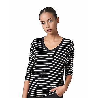 Shuuk Striped V-Neck T-Shirt