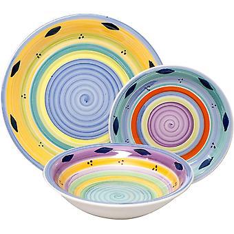 Wokex Excelsa Esprit Geschirrset, Keramik, mehrfarbig, 18 Stück