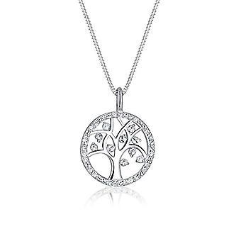 Elli Naisten kaulakoru Tree of Life Yksinkertainen riipus Swarovski-kristalleilla Sterling Silver 925