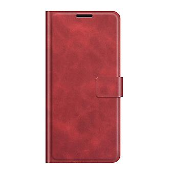 Pu leather magsafe case for samsung a22 4g red pc126