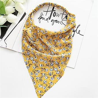 Kvinders firkantede tørklæde elastisk bånd hår tilbehør
