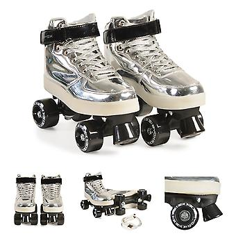 Byox Roller skates Zilver PVC wielen zool met lichtlager 608ZB verschillende maten