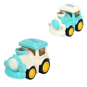 الأزرق الفتيان والفتيات مصغرة الكرتون الهندسة مركبة الجمود carchildren لطيف سيارة نموذج لعبة تعليمية هدية x4564