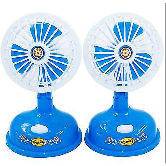 7.5 * 13Cm sininen sähköinen mini tuuletin, lasten teeskennelty pelilele, koulutuslele, simulaatio mini tuuletin az15231