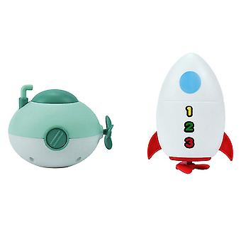 11X8cm assorted color 2pcs children plaything submarine toy bathing toy recreation accessories for kid dt3525