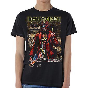 Iron Maiden - Stranger Sepia Unisex Großes T-Shirt - Schwarz