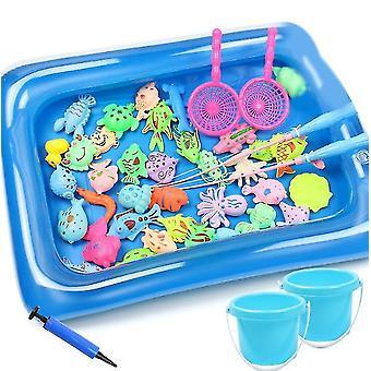42pack magnetisch visspel badspeelgoed voor kinderen (vierkante vijver)