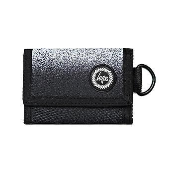 Hype Mono Speckle Fade Trifold Wallet Money Purse Black/White