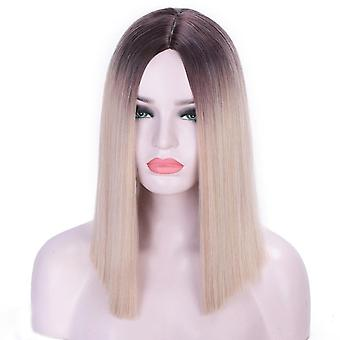 Short bob wig with bangs for women synthetic bob wigs black pink purple wig cosplay wig heat resistant hair