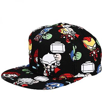Marvel Avengers Chibi Flat Bill Adjustable Snapback Hat