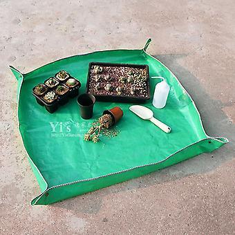 Foldable Waterproof Gardening Mat Flower Transplanting Pot Pad Plant Seedling Repotting Tray Garden Tool