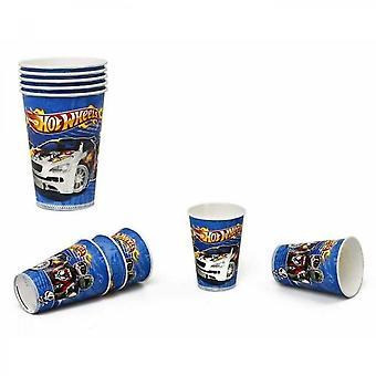Atosa csomag 5 pohár - Hot Wheels Print - Fiú - 180/200 ml