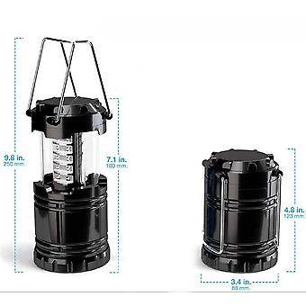30led Camping Light, Outdoor Waterproof And Retractable Camping Tent Light, 2pcs