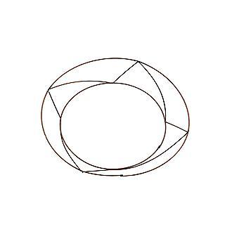 20 Basic Wire 10in Raised Wreath Ring BULK BUY - Floristry Hoop Frames