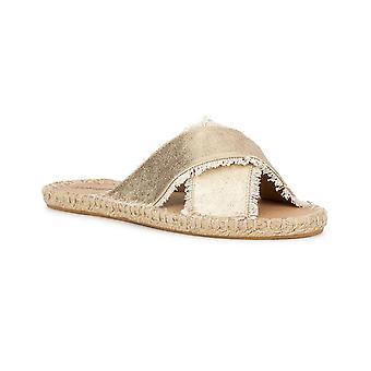 Olivia Miller Womens Joseline Espadrille Flat Slide Sandals
