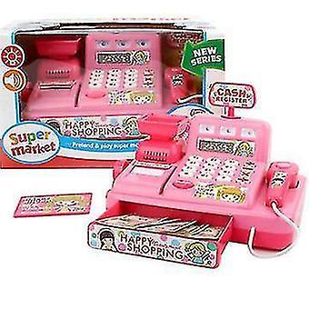 Puzzel Simulatie Kassa Home Appliance Children's Play House Toy (Roze)